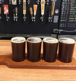 Beer Flight Paddle For 4 Glasses
