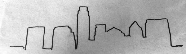 Austin Skyline Outlined