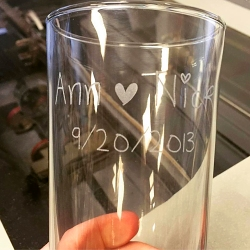 Engraved Irish Pub Glasses